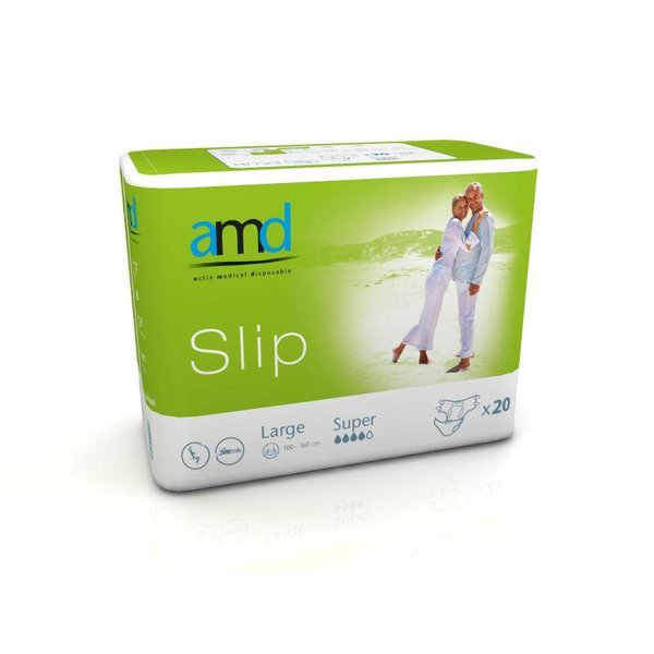 Slip 'Super' - groen 4 x 20 stuks