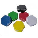 Hexagonal chat button with image