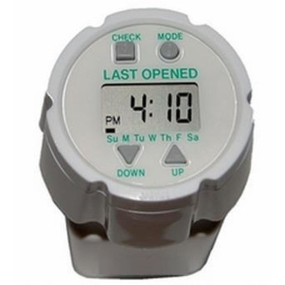 Medication alarm Timecap with last opened notification