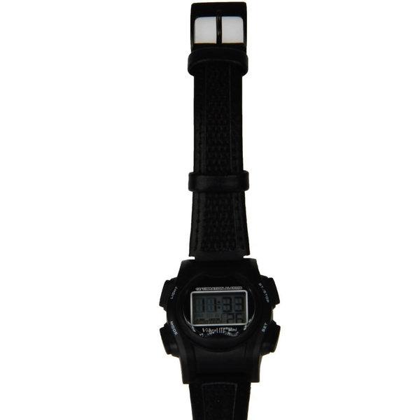 Montre médecine / eau Vibralite Mini, maison noire avec bracelet en cuir