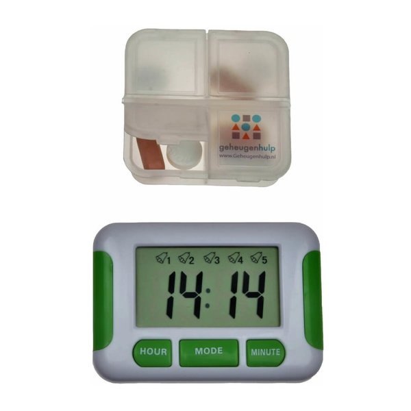 Medication alarm with 5 alarms