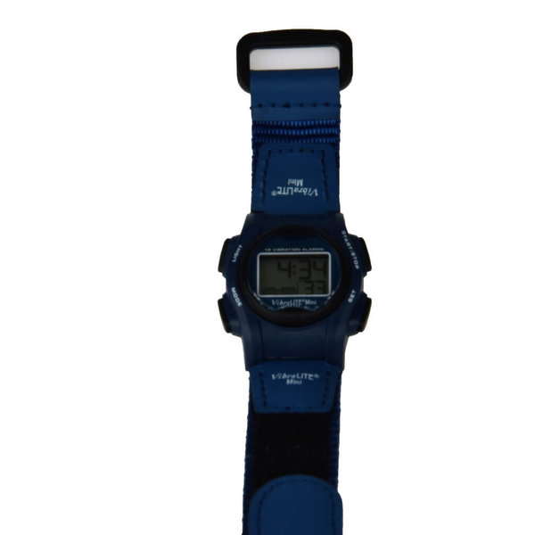 Medicine / water watch Vibralite Mini, black house with leather strap
