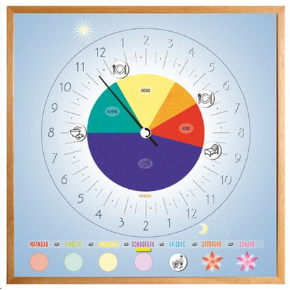 24 hour clock with variable daily schedule