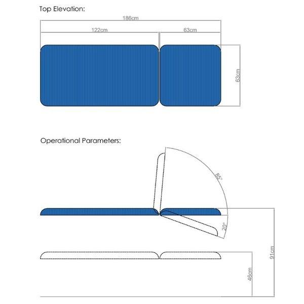 Elektrische verzorgingstafel 186 x 63 cm