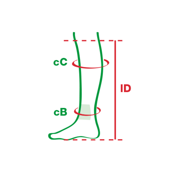 Bas de compression en 2 parties à structure soyeuse