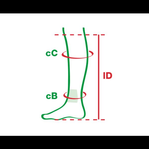 Compressiekousen in 2 delen met een zijdeachtige structuur