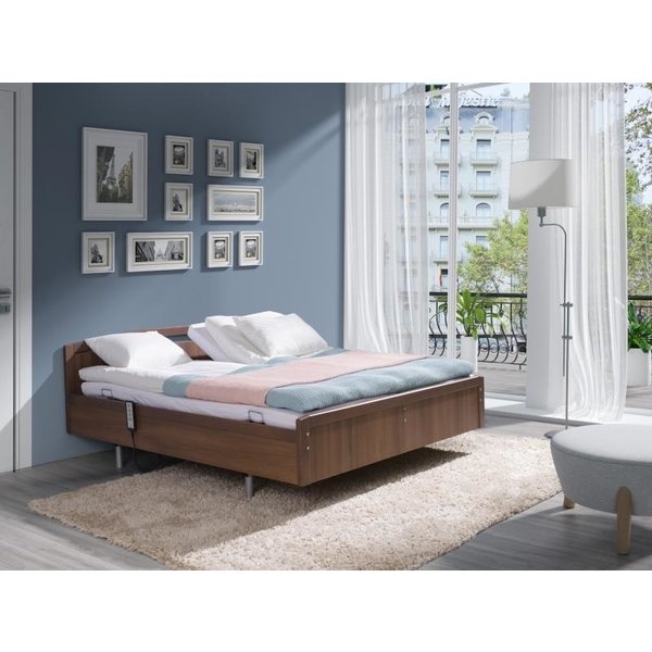 Electric height adjustable box double bed