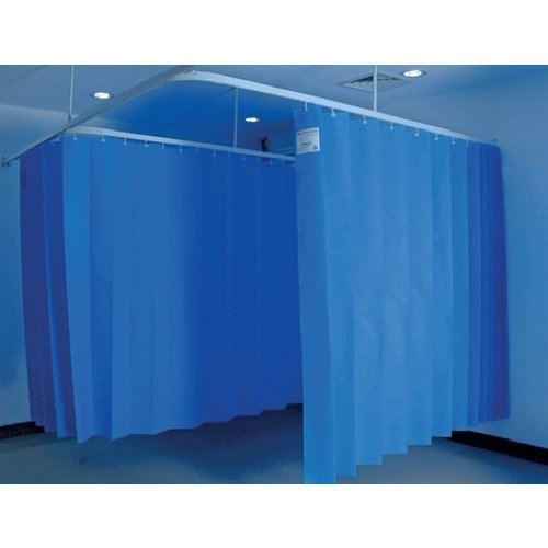 Disposable medical curtain 7,5m x 2m (h) blue