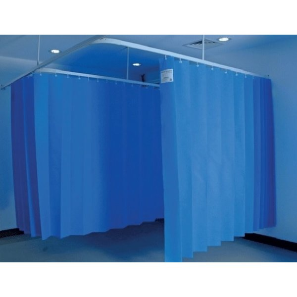 Wegwerp medisch gordijn 7,5 x 2 m (h) blauw