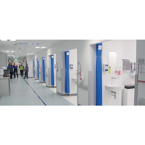 Rideau médical jetable 7,5 x 2 m (h) bleu