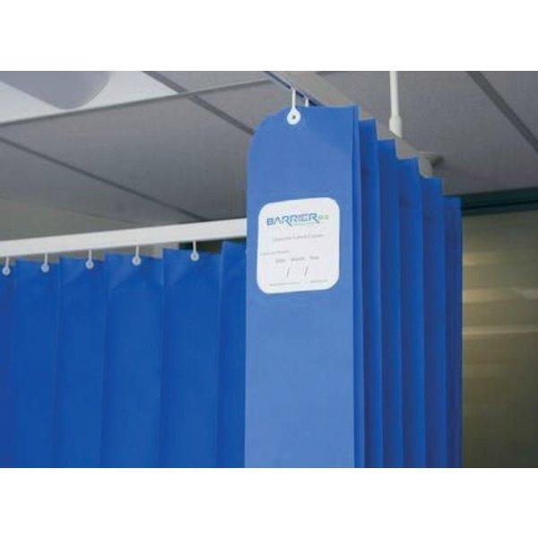 Disposable medical curtain 7.5 x 2 m (h) blue