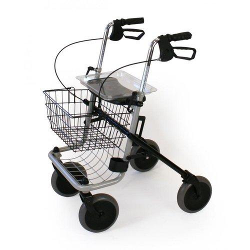 Marchette pliable à 4 roues avec assise en gris
