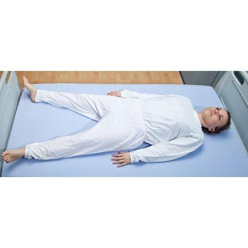 Verpleegpyjama met mouwen en tussenbeenrits