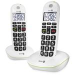Draadloze seniorentelefoon met duidelijk scherm - 2 toestellen
