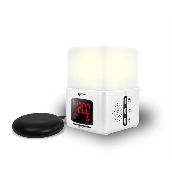 Geemarc Wake 'n Shake Light - Réveille-matin courbe avec coussinet de vibration et lampe