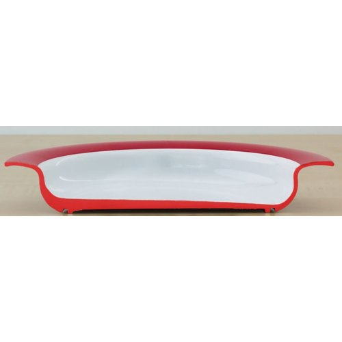 Dishwasher safe asymmetrical plate Ornamin
