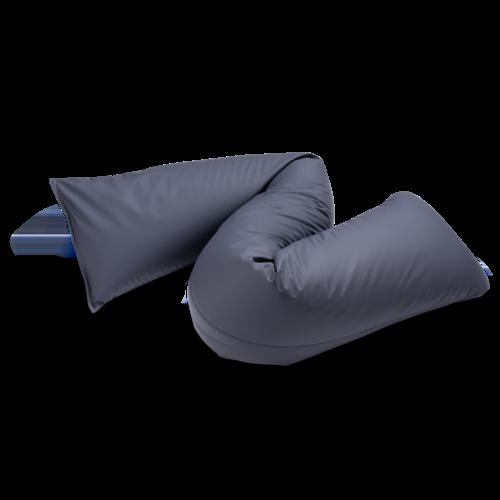 Zigzagkussen in afwasbare, bi-elastische, polyurethane stof