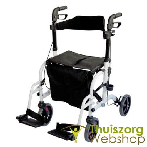 Déambulateur et chaise de transport 2 en 1