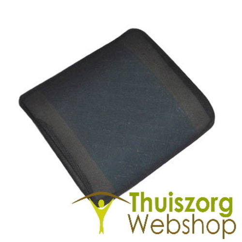 Memory foam lumbar support cushion with cooling gel