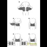 Clampable back brace Lombastab