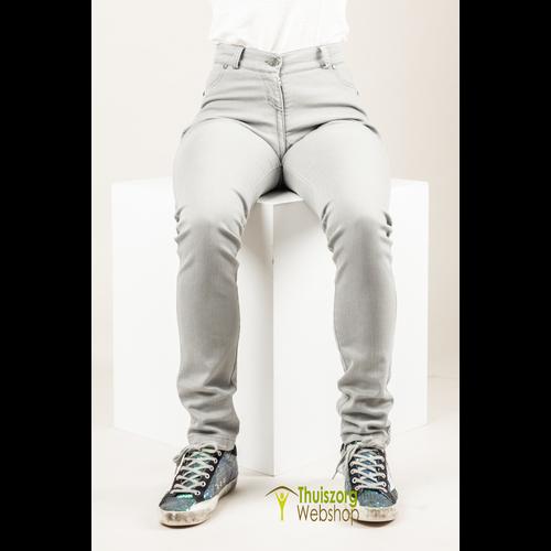 So Yes! Zitbroek met diepe rits ZOË - grijze jeans