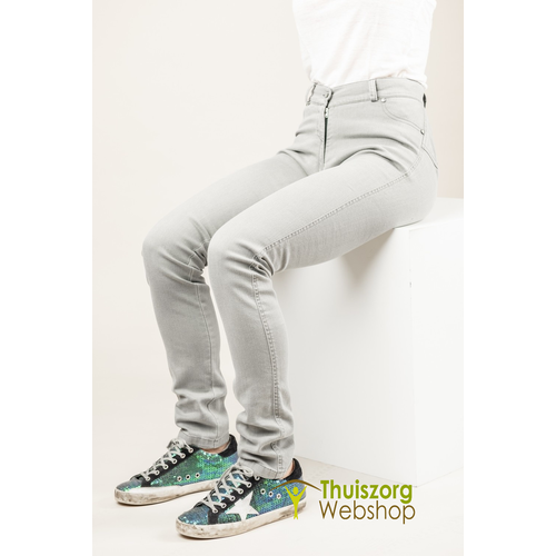 So Yes! Seat trousers with deep zipper ZOË - gray jeans
