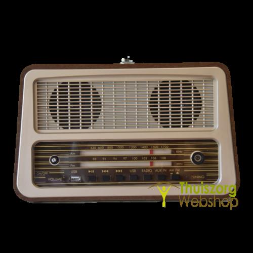 Retro radio with 1 control button