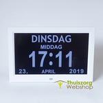 Digital calendar clock with 12 alarms and remote control