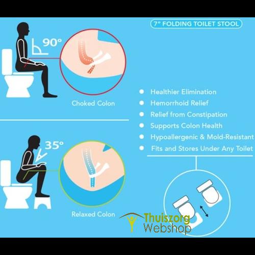 Foldable toilet seat toilet aid