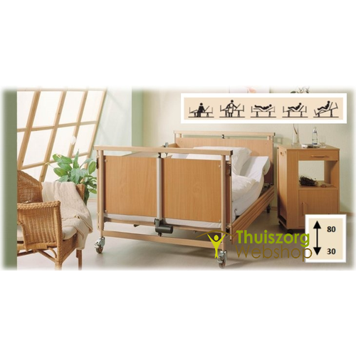 Allura Mighty care bed extra wide 120 cm