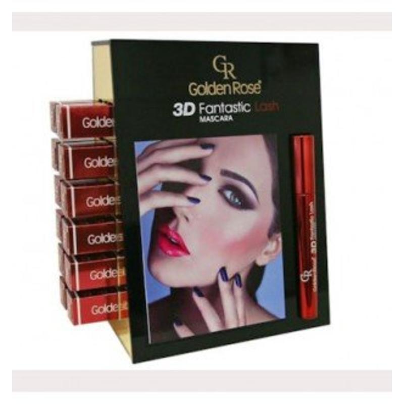 Golden Rose Display 3D Mascara 12 Stuks