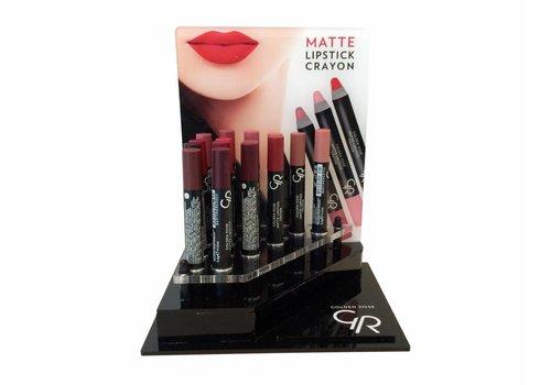 Golden Rose GR Display Crayon Matte Lipstick 20 Stuks