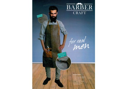 Trend Design Schort Barber Craft Leather Look Bruin
