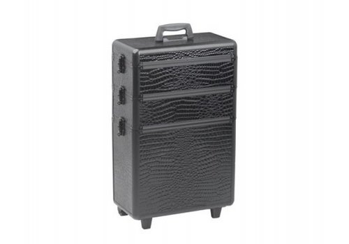 Sinelco Koffer Modular Croco Zwart 3 delig