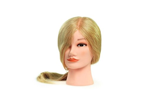 Bratt Trading Oefenhoofd Bratt Dame Lang Blond Echt Haar CH-807 9867