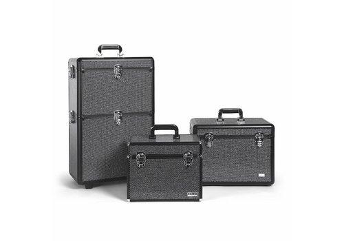 Sinelco Strass Xl Aluminium Koffer Met 2 Opbergniveau's Sibel