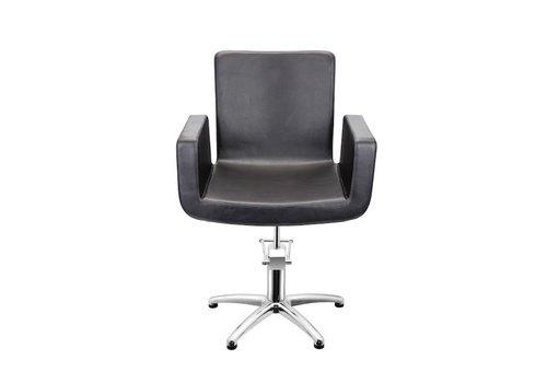 Sinelco Attractio Kappersstoel Zwart Met 5 Sterren Voet