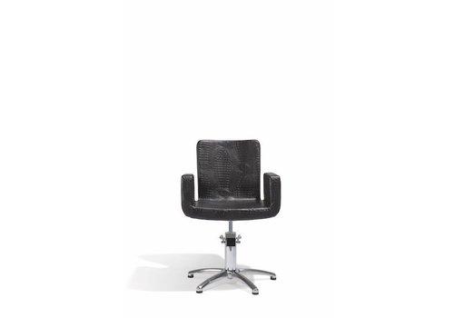 Sinelco Attractio Kappersstoel Croco Zwart Met 5 Sterren Voet