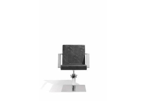 Sinelco Devotio Kappersstoel Croco Zwart Met Vierkante Voet