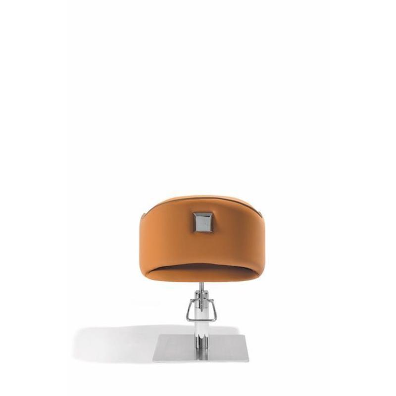 Sensum Kappersstoel Cognac/Taupe Met Vierkante Voet