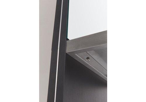 Sinelco Reflexio-Mobiele Kaptafel Zwart/Spiegel 60X170X8,5Cm Sibel