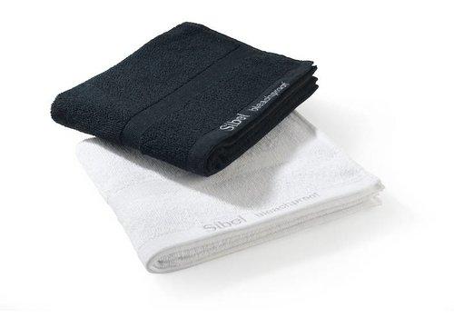 Sibel Bleachproof Handdoek In Katoen Kleurvast 48X75Cm Zwart