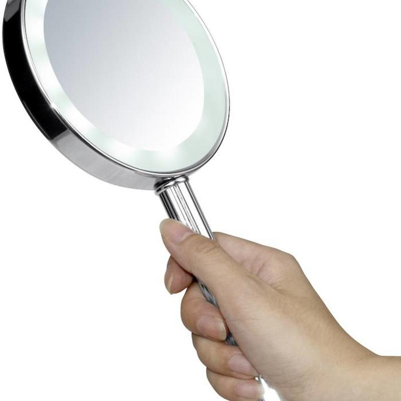 Vaduz 13Cm Led Double Sided Handheld Mirror Regular X3