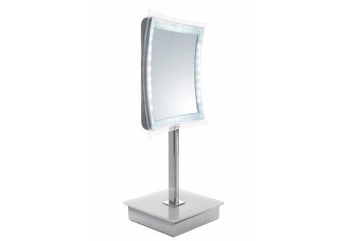 Sinelco Riga 21Cm Square Led Table Mirror X5