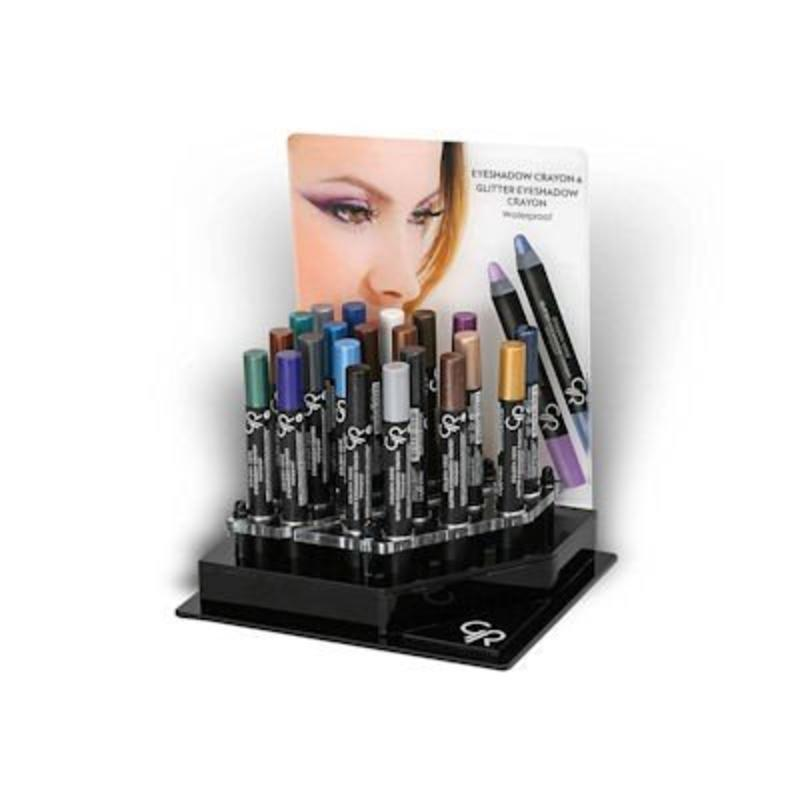 Golden Rose Eyeshadow Crayon Display