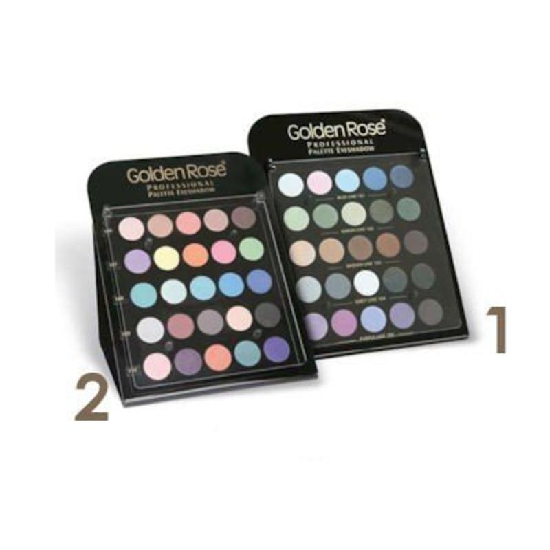 Golden Rose Pro Palette Eyeshadow Display