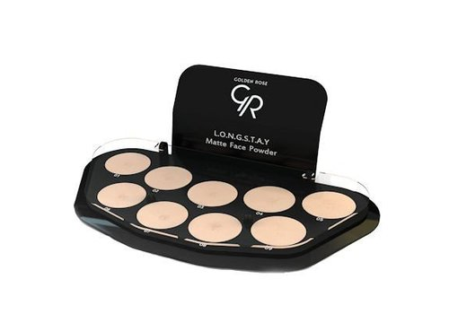 Golden Rose GR Longstay Matte Face Powder Display