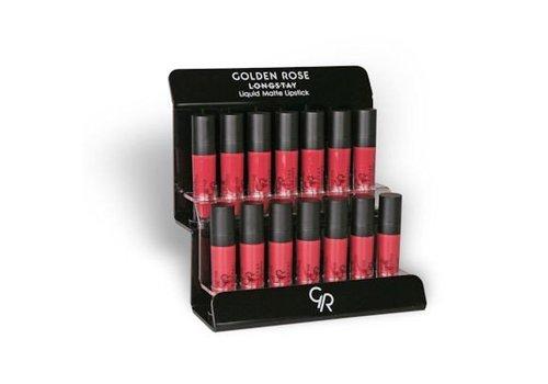 Golden Rose GR Longstay Liquid Matte Lipstick Display