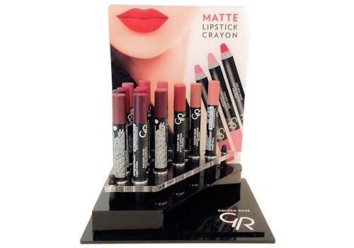 Golden Rose Crayon Matte Lipstick Display