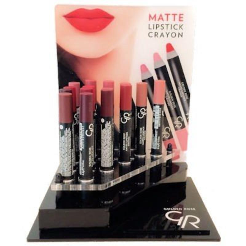 Crayon Matte Lipstick Display
